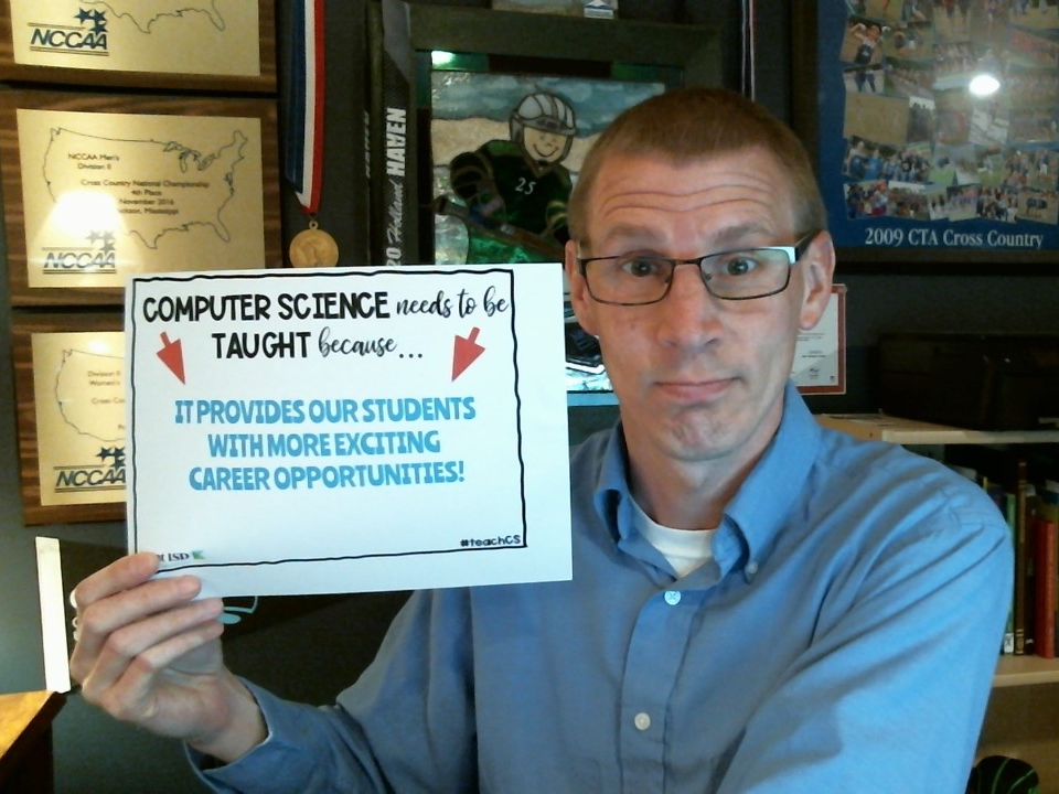 Computer Science needs to be taught because, it provides our students with more exciting career opportunities! Gerry Verway, Kent ISD #teachCS